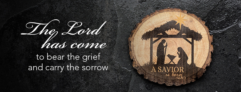 The Lord has come to bear the grief and carry the sorrow