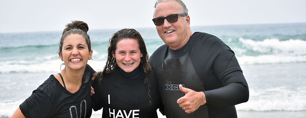 Girl joins church with ocean baptism
