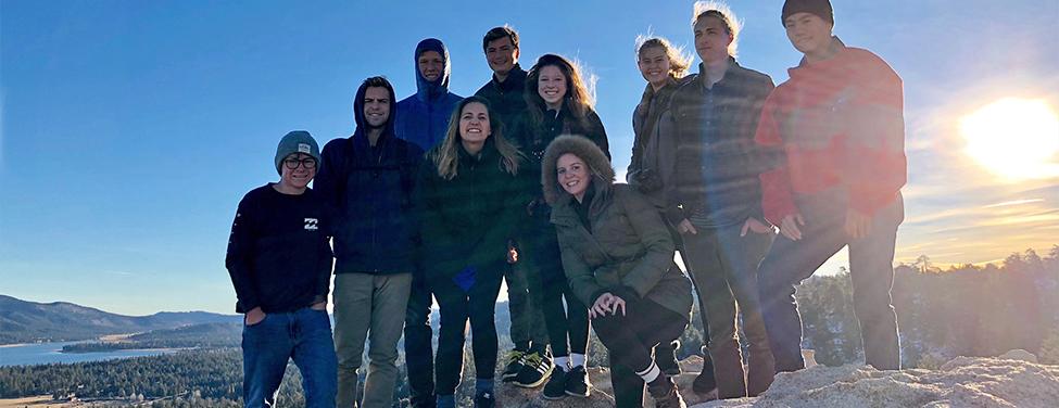 Youth group climbs mountain on church trip