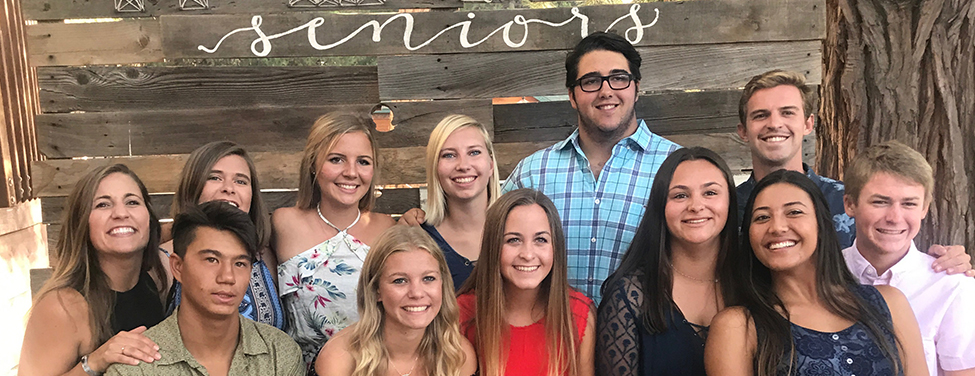 High School Ministry Seniors share a moment