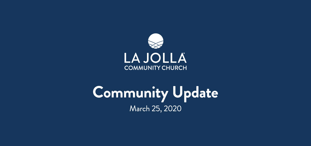 Pastor Steve's Update to the Congregation
